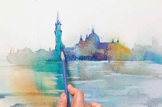 丹青易考 手把手教你画一幅水彩风景画!